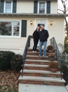 Me and my husband the day we got the keys!