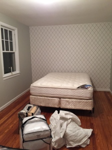 Accent wall and not much else.